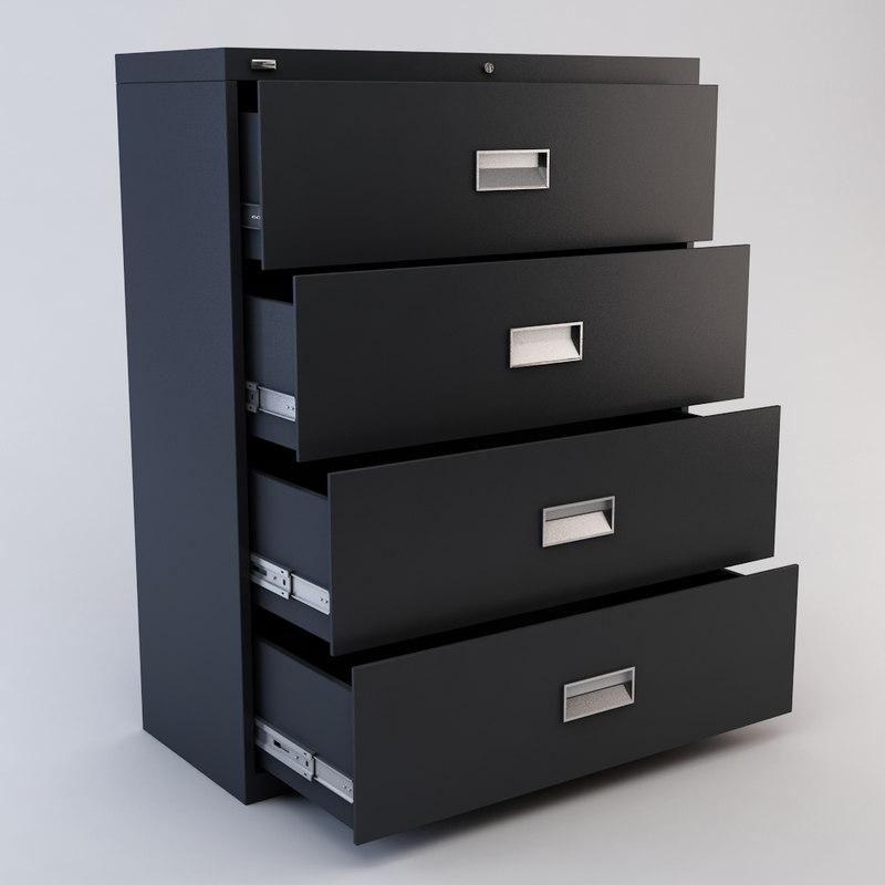 drawer file cabinet 3d model. Black Bedroom Furniture Sets. Home Design Ideas