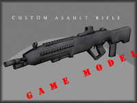 3d custom rifle model