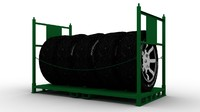 Tire Rack with Tires