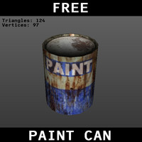 Low Poly Paint Can