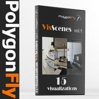 PolygonFly_VisScenes_vol_1 (15 scenes)
