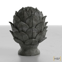 3d artichoke sculpture