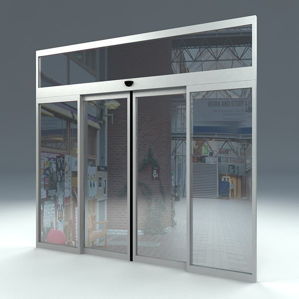 free door sliding automatic 3d model