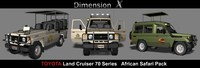 3d model of toyota land cruiser 70