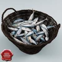 Fish in Wicker Basket