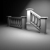 handrail 3d max