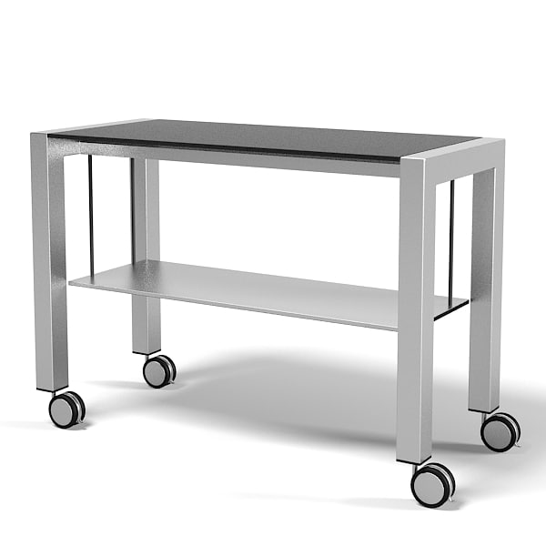 Kristalia Sushi Service trolley Side table serving modern contemporary  metal.jpg