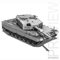 3d german battle tank leopard 2a4