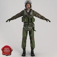 3d military pilot v3 static