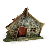orc blacksmith fantasy building 3d 3ds