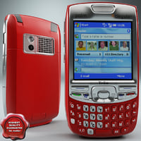 palm treo 750 red 3d model