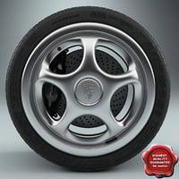 3d porsche wheel model
