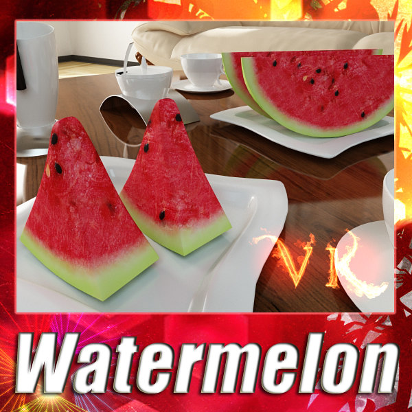 Watermelon + High Resolution Textures.
