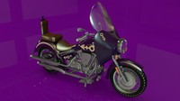 cinema4d purple rain bike