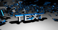 cinema4d exploded text