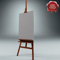 studio easel v2 3d model