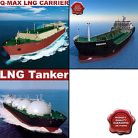 3d tankers set lng model