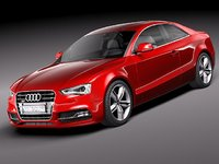 audi s5 coupe 2012 3d obj