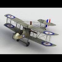 3d model airco dh 2 aircraft