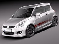 3d model suzuki x-ite 2011 swift