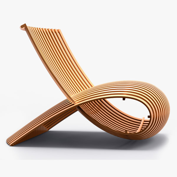 3d marc newson wooden model for Marc newson wooden chair