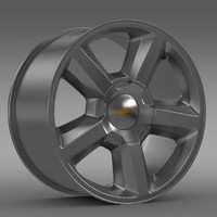 3d chevrolet tahoe 2008 rim model