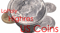 coins penny s dimes lwo