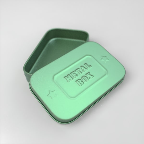 tin box 3d obj - Tin Box... by vals3d