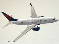 boeing 737-700 delta air lines c4d
