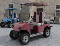 3d model golf cart car