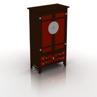 asian style cupboard 3d model