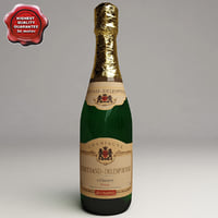 3d champagne bottle model