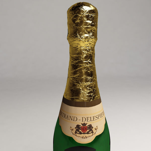 3d champagne bottle model - Champagne Bottle... by 3d_molier