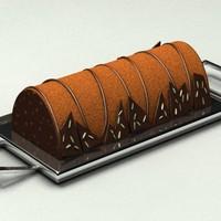 modern chocolate cake 3d model