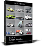 vehicles airport 3d: 3d c4d
