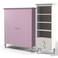 Dolfi chantal classic traditional children bedroom furniture cabinet bookcase etagere armoire