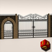 antique gate - 3d 3ds
