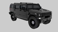 Hummer H3 4x4 3D Model