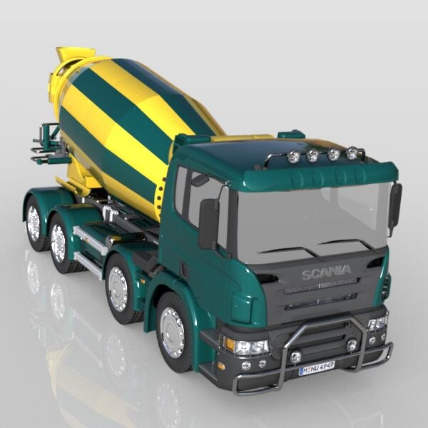 3ds max concrete mixer mix - Scania Concrete Mixe... by Mark Tech Designs