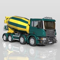 3ds max concrete mixer mix