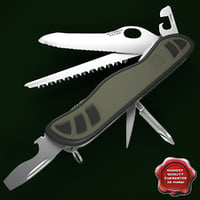 swiss army soldier knife 3d model