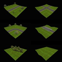 low-poly road parts x