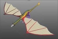 3d model dragon uvs