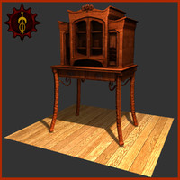 indoor furniture 3d obj