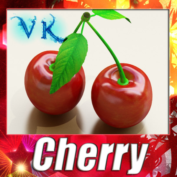 3d model of cherry resolution - Cherry High Detailed + High Resolution Textures... by VKModels