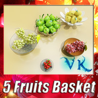 5 Fruits Basket + High Resolution textures