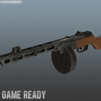 ppsh-41 games weapon 3d max