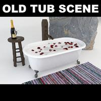 old tub 3d model