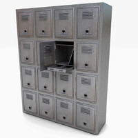 locker metal bank 3d model