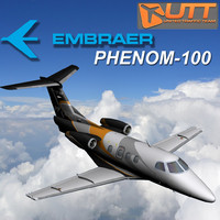 embraer phenom 100 simulation 3d model
